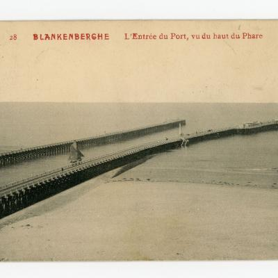 Panorama op de haven van Blankenberge