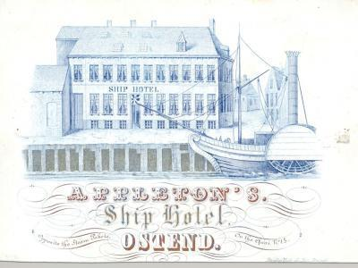Porseleinkaart Appleton's Ship Hotel, on the Quai N° 15